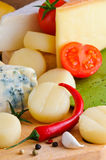Cheese and spices Stock Photo