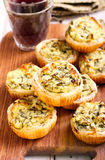 Cheese and spinach mini pies Royalty Free Stock Image
