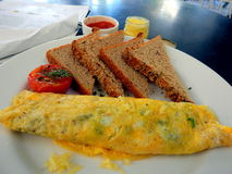 Cheese and spinach omelette  Bandra Mumbai India Stock Photo