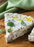 Cheese and spinach pie, Russian savory zapekanka Stock Images
