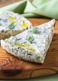 Cheese and spinach pie, Russian savory zapekanka Stock Photo