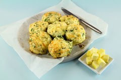 Cheese And Spinach Scones Stock Photo