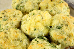Cheese And Spinach Scones Stock Photos