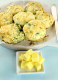 Cheese And Spinach Scones Royalty Free Stock Photos