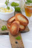 Cheese Spread With Toasted Bread Royalty Free Stock Photo