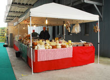 Cheese Stall at Pollice Verde Royalty Free Stock Images