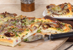 Cheese Steak Pizza Royalty Free Stock Photography