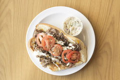 Cheese Steak Sandwich Royalty Free Stock Photography