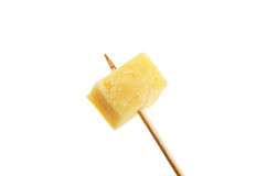 Cheese on stick Royalty Free Stock Image