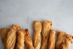 Cheese stick ,Breadsticks with cheese on marble background stock photos