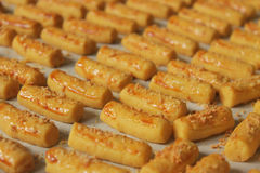 Cheese Stick Cookies. Bunch of delicious cheese stick cookies Stock Images