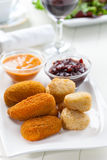 Cheese sticks with chutney Stock Image