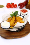 Cheese sticks and Mixed French Fries Royalty Free Stock Photography
