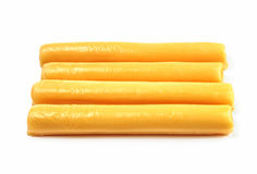 Cheese sticks on a white background Royalty Free Stock Photo