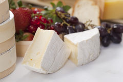 Cheese still life with fruit Royalty Free Stock Photography