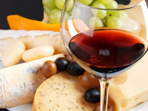 Cheese still life with wine Royalty Free Stock Photography