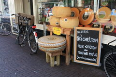 Cheese store in Amsterdam. Cheese store selling English cheese, in Amsterdam, Netherlands Royalty Free Stock Photo