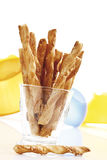 Cheese straws in glass Royalty Free Stock Photo