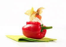 Cheese stuffed bell pepper Stock Photography