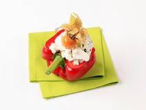 Cheese stuffed bell pepper Royalty Free Stock Photos