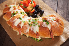 Cheese stuffed bread Royalty Free Stock Image