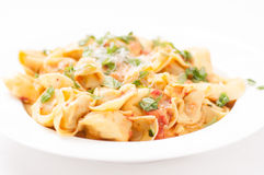 Cheese stuffed tortellini Royalty Free Stock Images