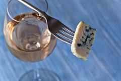Cheese and sweet wine Stock Image