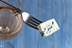 Cheese and sweet wine Royalty Free Stock Photo