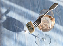Cheese and sweet wine Royalty Free Stock Photos