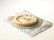Cheese Tart with pistachio nuts and whipped cream Royalty Free Stock Photography