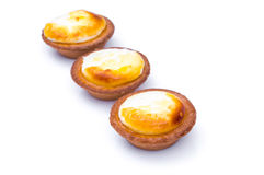 Cheese tart on white background . Stock Photography