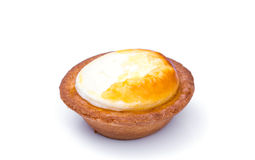 Cheese tart on white background . Cheese tart on white background Stock Photos