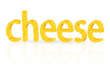 Cheese text Royalty Free Stock Photo