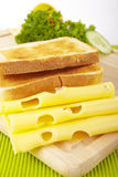 Cheese and toast Stock Photo