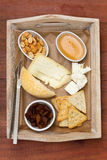 Cheese with toasts, nuts Royalty Free Stock Photo