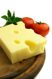 Cheese with tomat Stock Images