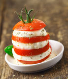 Cheese and tomato acompaniment Stock Images