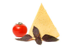 Cheese, tomato and basil Royalty Free Stock Photo