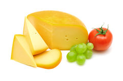 Cheese,tomato and grape Royalty Free Stock Photos