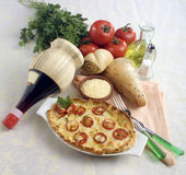 Cheese and tomato quiche Royalty Free Stock Photo