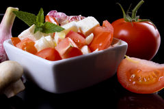 Cheese and tomato salad Royalty Free Stock Photo
