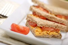 Cheese and tomato sandwich Royalty Free Stock Photography