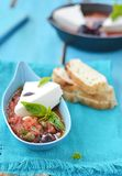 Cheese with tomato sause. Stock Image