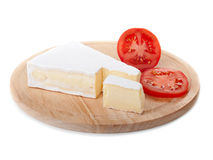 Cheese and tomato slice Royalty Free Stock Image