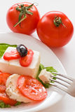 Cheese and tomatoes Royalty Free Stock Photography
