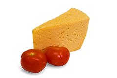 Cheese and tomatoes Stock Images