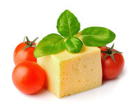 Cheese with tomatos Stock Photography