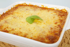 Cheese Topped Casserole Straight from the Oven Royalty Free Stock Photos