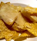 Cheese topped Nachos Stock Image