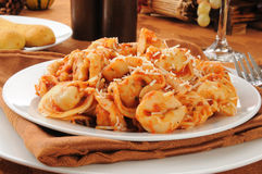 Cheese tortelllini Stock Images